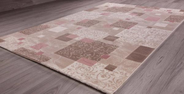 килим сафир 1606 св.беж/розе